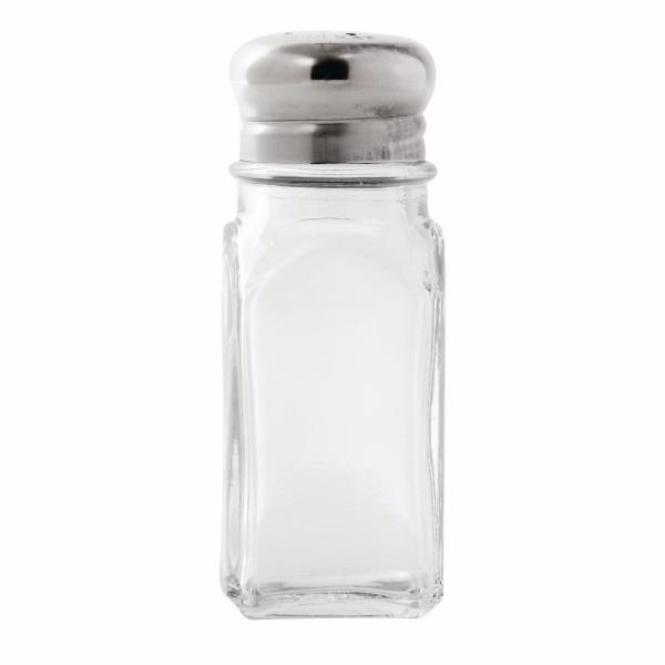 SHAKER SALT/PEPPER GLASS 57ML/60ML SQUARE EA