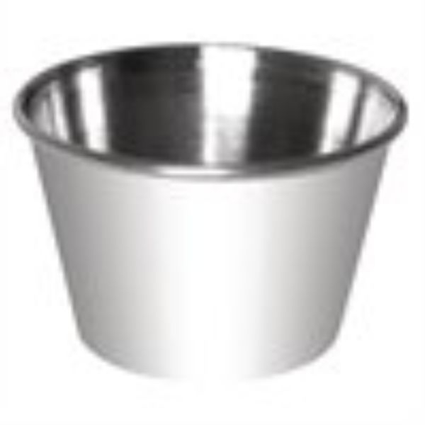 DIPPING/SAUCE CUP STAINLESS STEEL 340ML