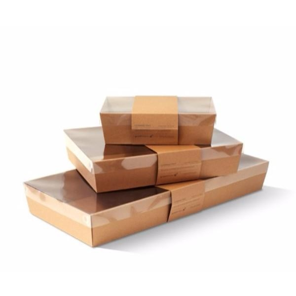 CATERING TRAY LARGE COMPLETE WHITE/BROWN  EACH (CTN 50) - Click for more info