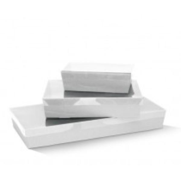TRAY CATERING WHITE LARGE 560x255x80 EACH  (CTN50)