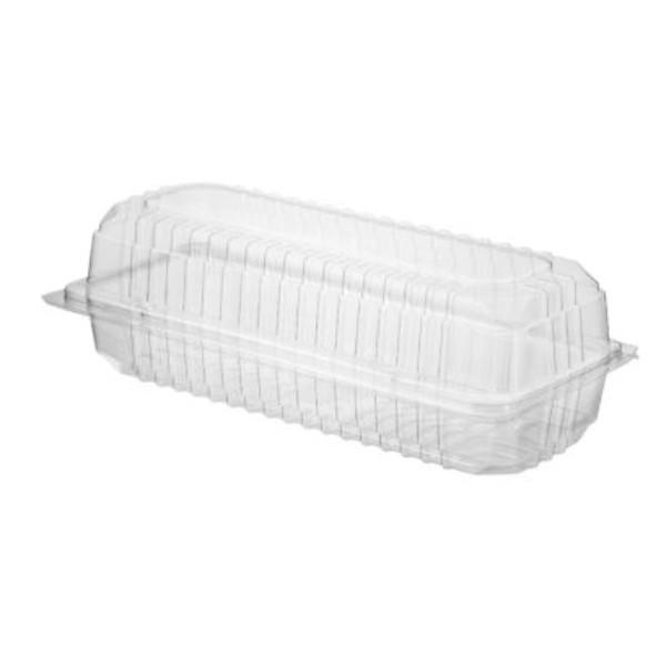 CONTAINER ROLL PACK HINGED LID CLEAR PK100 (CTN400) 240x115x