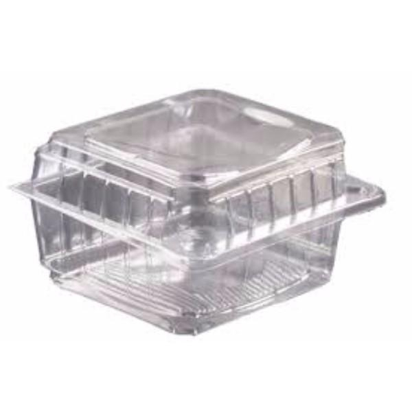 CONTAINER CLEAR/HINGE SMALL 046 PK250 (CTN1000) 110x100x65mm