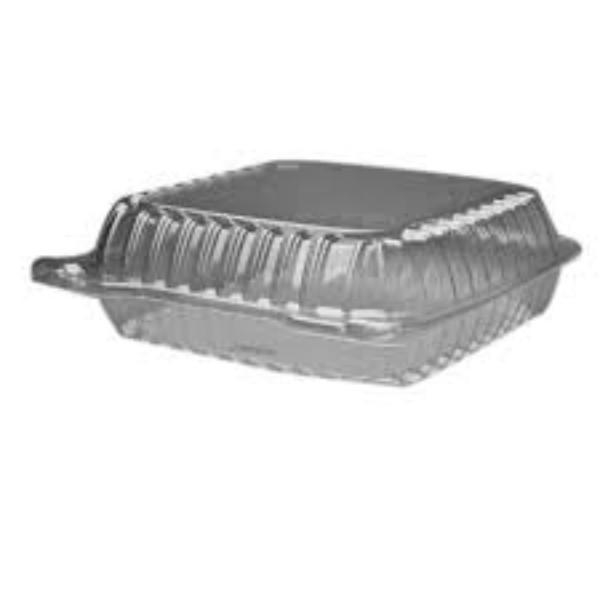 CONTAINER CLEAR/HINGE LARGE 047 PK250 (CTN1000) 130x125x65mm