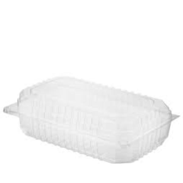 CONTAINER HINGED LID SALAD PACK 049 LARGE CLEARVIEW PK100  (