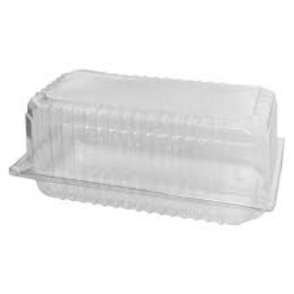 CONTAINER CLEAR/HINGE CAKE BAR 051 PK100 (CTN300) 221x123x11