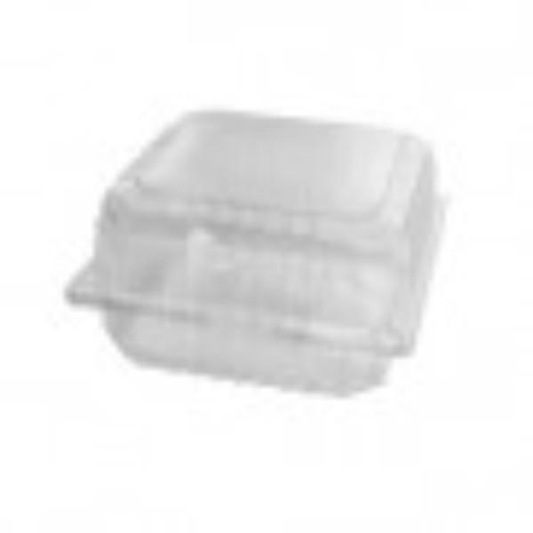 BURGER CLAM CLEAR/HINGED LID JUMBO PACK 100 (CTN400) 150x145x75mm