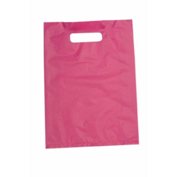 BAG POLY BOUTIQUE LGE MAGENTA PK 100 (CTN500) 530X415