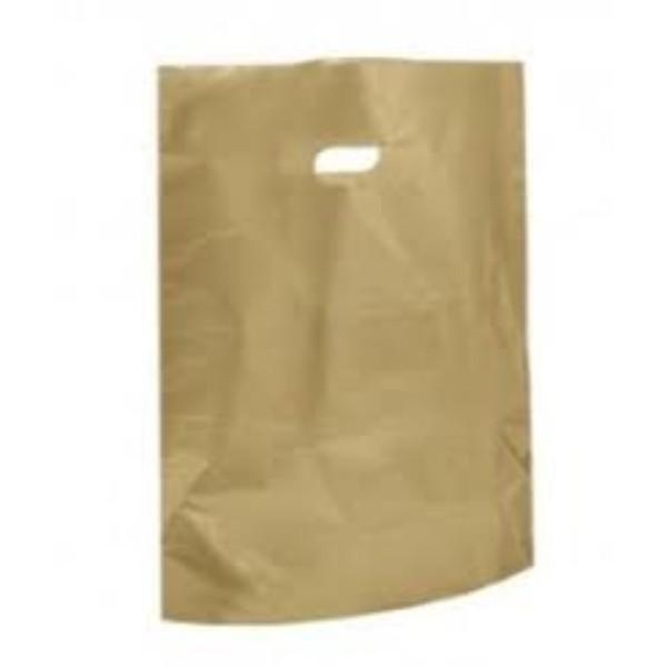 BAG POLY BOUTIQUE LGE GOLD PK 100 (CTN 500) 530X415