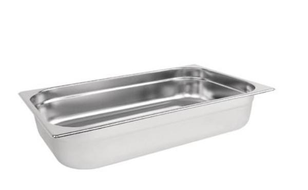 STEAM PAN 1/1 100mm DEEP STAINLESS STEEL 530x325mm