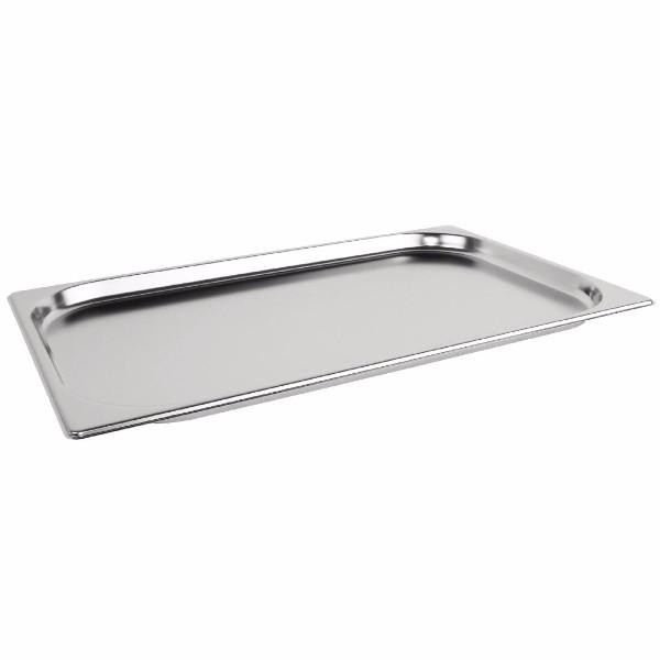 STEAM PAN 1/1 20mm DEEP STAINLESS STEEL 530x325mm