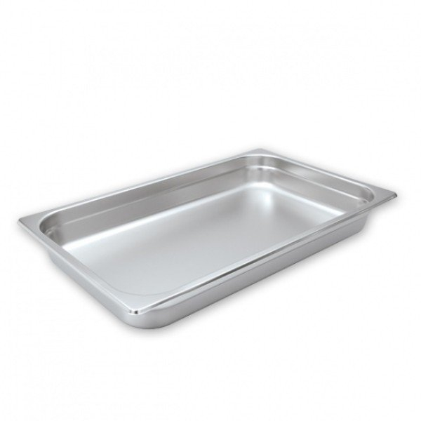 STEAM PAN 1/1 65mm DEEP STAINLESS STEEL 530x325mm