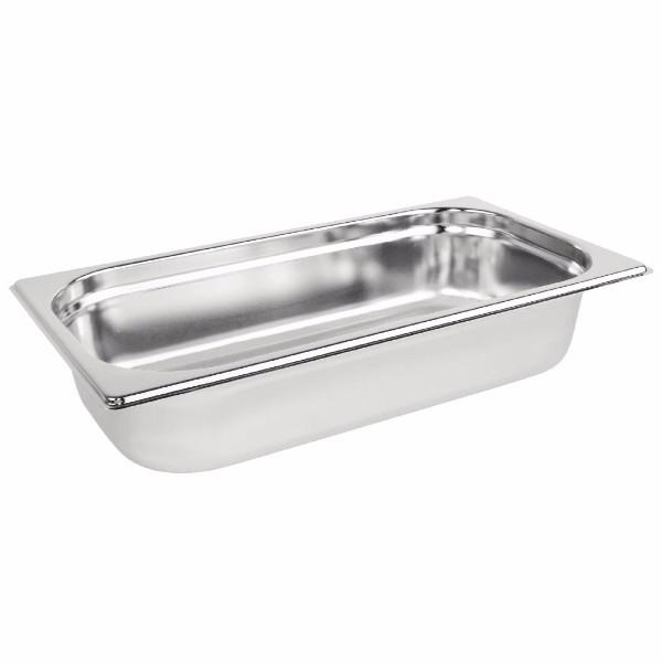 STEAM PAN 1/3 65mm DEEP STAINLESS STEEL 321x177mm - Click for more info