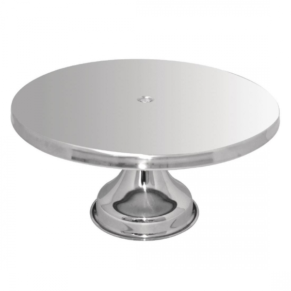 CAKE STAND STAINLESS STEEL 3 TIER CHROME HIGH PROFILE