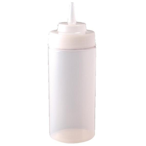 CLEAR WIDE NECK SQUEEZE BOTTLE 454ML