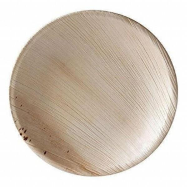 ECO PLATE LARGE ROUND 250MM PALM LEAF PK 25 (CTN 100)