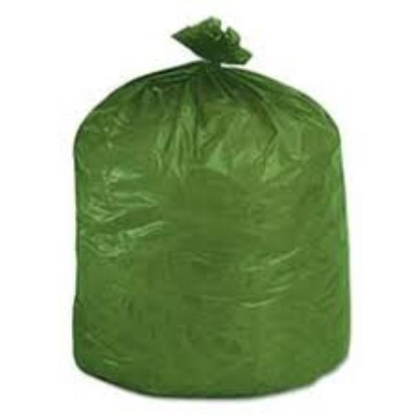 BAG GARBAGE 55LT GREEN EPI DEGRADABLE (EACH ROLL 25)  (CTN250)