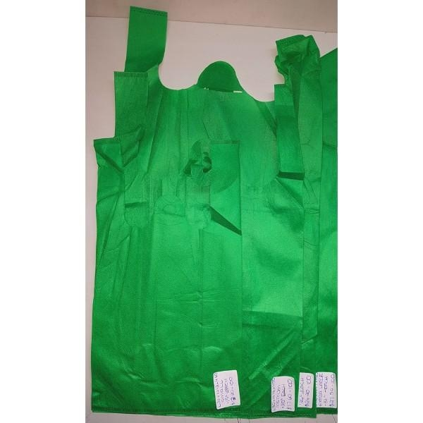 BAG SINGLET NON WOVEN LGE GRN EACH (PK100) L33xW17xH60 - Click for more info