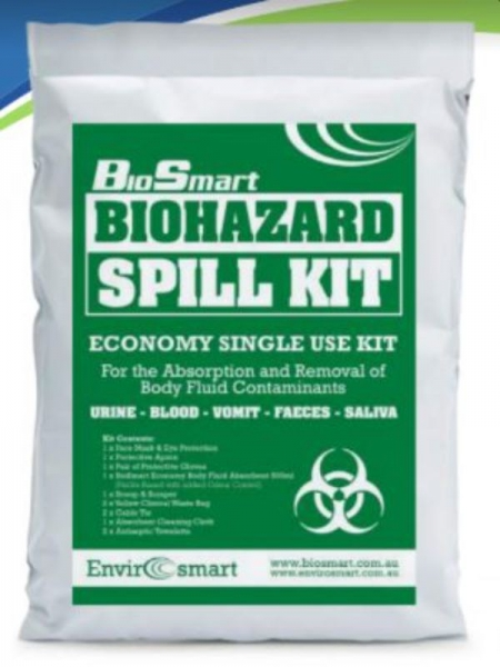 BIOHAZARD ECONOMY SINGLE USE SPILL KIT