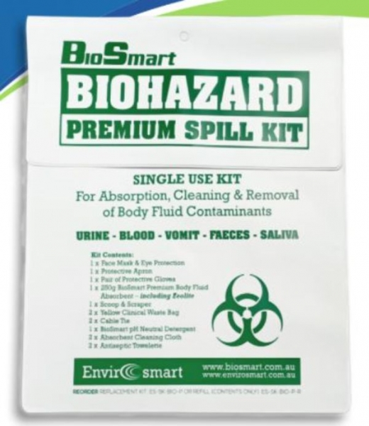 BIOHAZARD PREMIUM SINGLE USE SPILL KIT