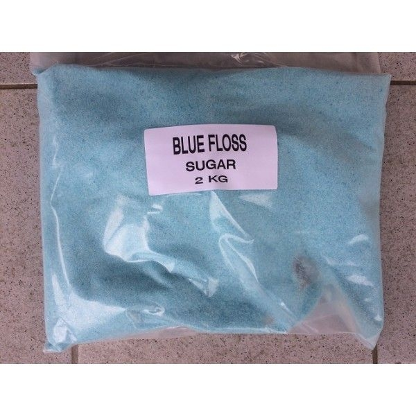 FAIRY FLOSS SUGAR BLUE 2KG