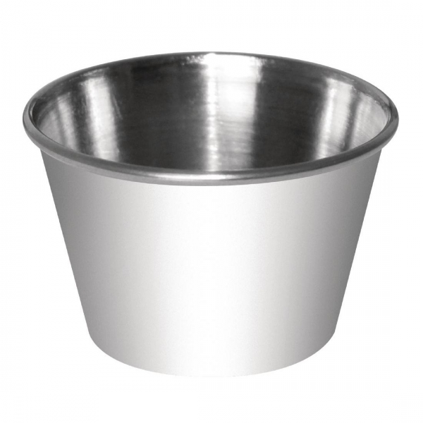 STAINLESS STEEL SAUCE CUPS 70ML EACH ( BOX 12) - Click for more info