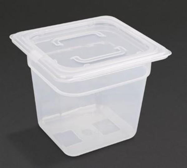 POLYPROPYLENE 1/6 150MM CONTAINERS WITH LID