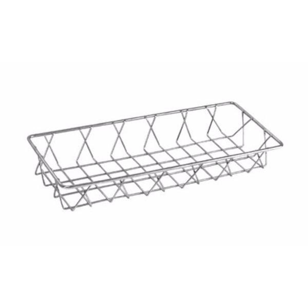 STAINLESS STEEL WIRE DISPLAY BASKET