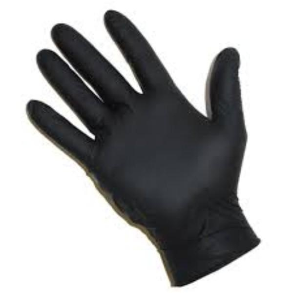 GLOVES NITRILE BLACK POWDER FREE MED BOX100  (CTN1000) - Click for more info