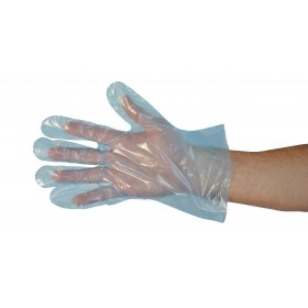 GLOVES PLASTIC LGE (BLUE) BOX500 (CTN 6.000) - Click for more info