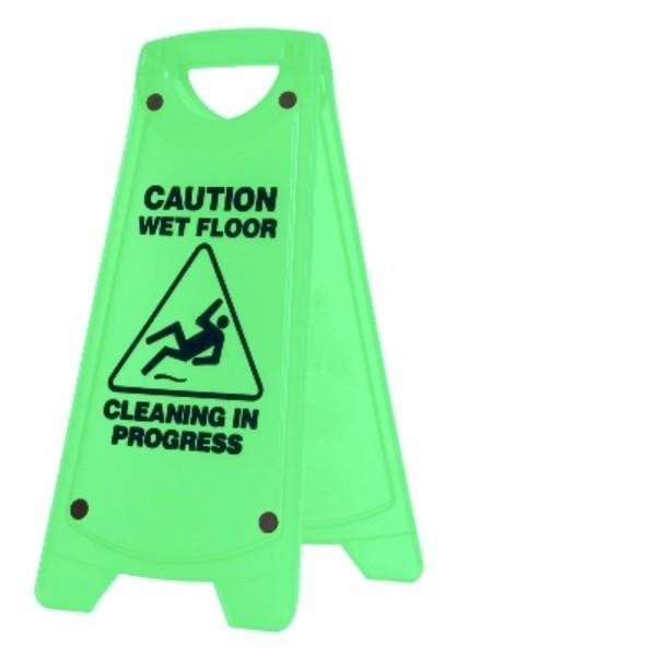 SIGN A FRAME CAUT WET/FLOR-CLEAN IN GREEN OATES