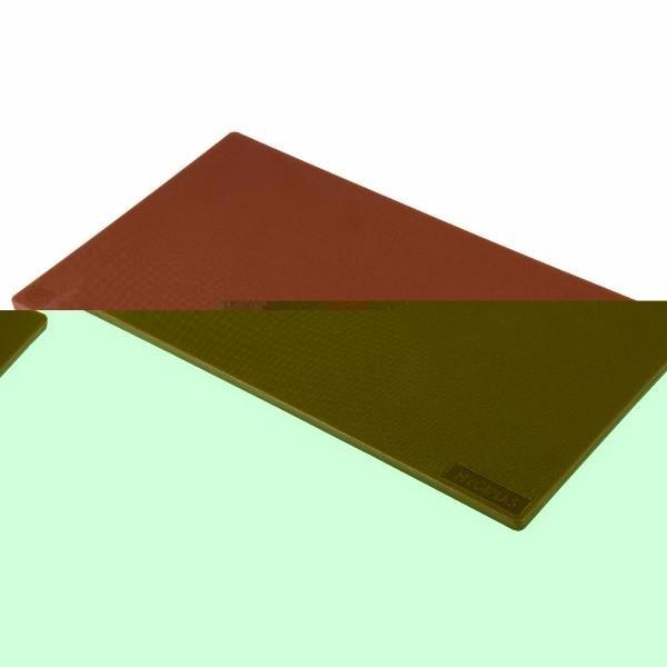 CUTTING BOARD BROWN HYGIPLAS  455 X 305 X12MM