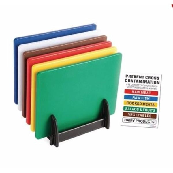 CUTTING BOARD PACK SET 6, RACK AND WALL CHART