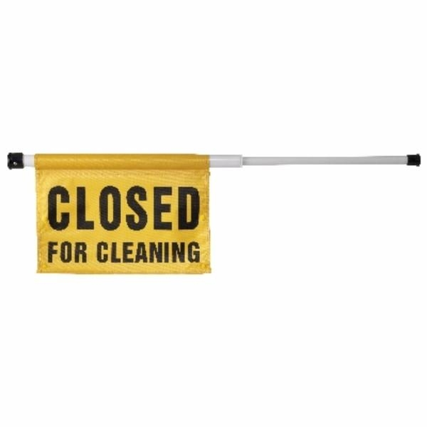 SIGN RETRACT CLOSED FOR CLEANING OATES