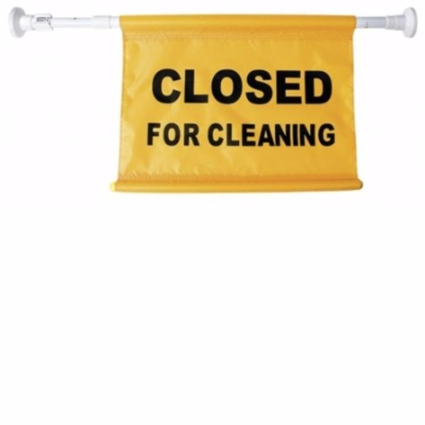 SIGN DOOR CLOSED FOR CLEANING OATES