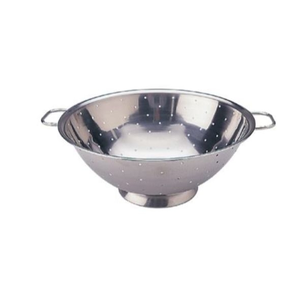 COLANDER 355MM STAINLESS STEEL WITH SIDE HANDLES