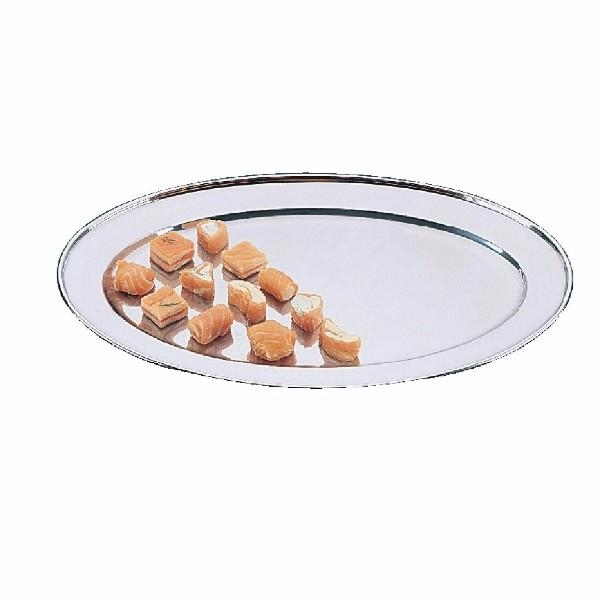 455MM OVAL SERVING PLATTER STAINLESS STEEL