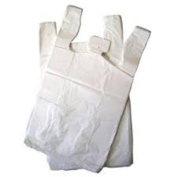 BAG SINGLET 35UM LARGE WHITE REUSE PK 200 (CTN 1000)