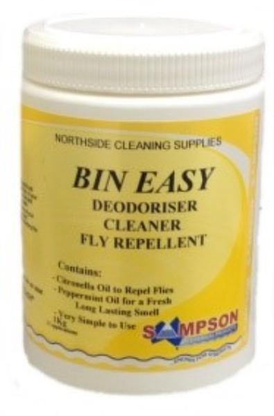 BIN EASY BIN CLEANER DEODORISER 1KG SAMPSON