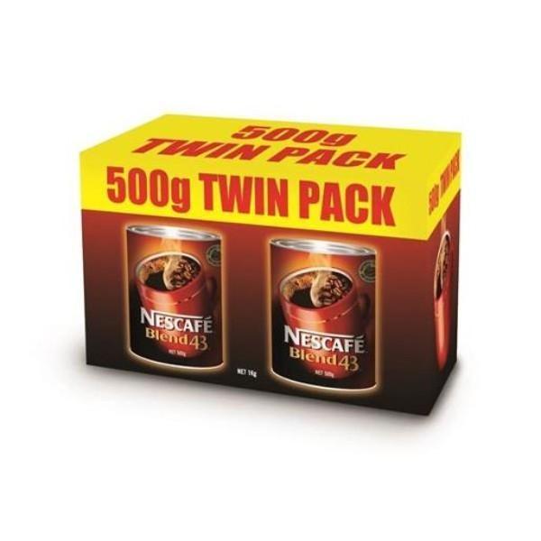 COFFEE TWIN PACK 500Gx2 NESCAFE BLEND 43 CAM
