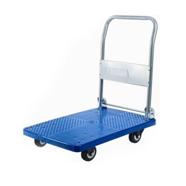 TROLLEY BLUE BASE (flat bed) 300KG ER - Click for more info