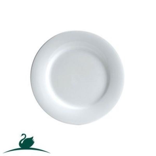BISTRO PLATE ROUND WHITE CHINA 260MM