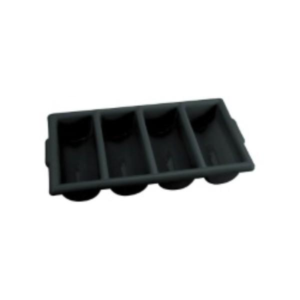 CUTLERY BOX 4 COMPARMENT BLACK (H)