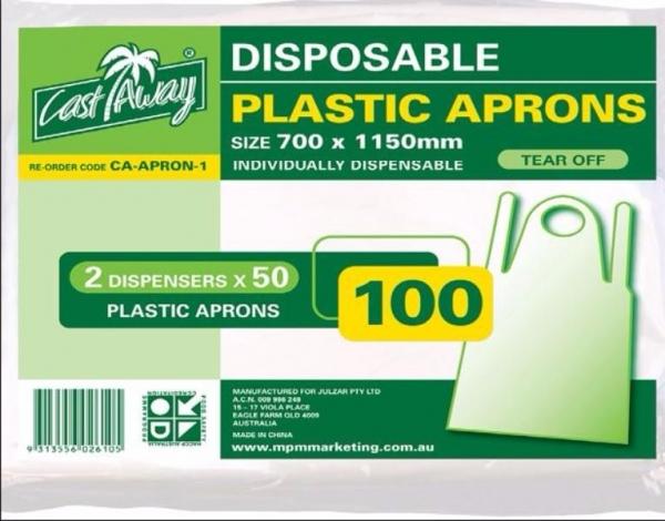 APRON DISPOSABLE PK100  (CTN1000)