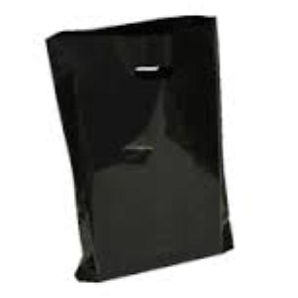 BAG POLY BOUTIQUE LGE BLACK PK 100 (Ctn500) 530X415