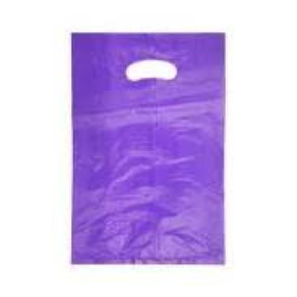 BAG POLY BOUTIQUE LGE PURPLE PK 100 (CTN 500) 530X415