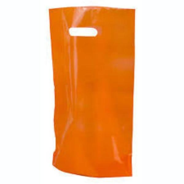 BAG POLY BOUTIQUE LGE ORANGE PKT 100 530X415 (CTN500)