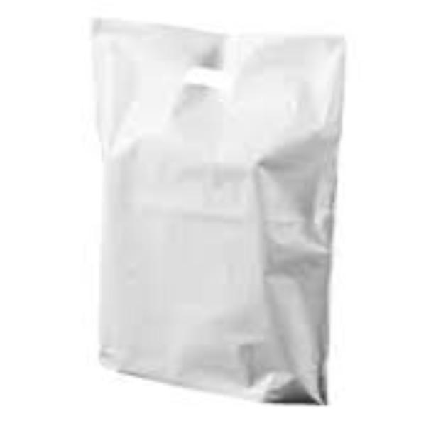 BAG POLY BOUTIQUE LGE WHITE PK 100 530X415