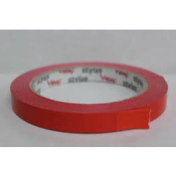 TAPE BAG SEAL LASSO 12mm x 66m RED EACH  (PK24)