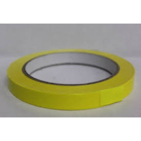 TAPE BAG SEAL LASSO 12mm x 66m YELLOW EACH (PK24)