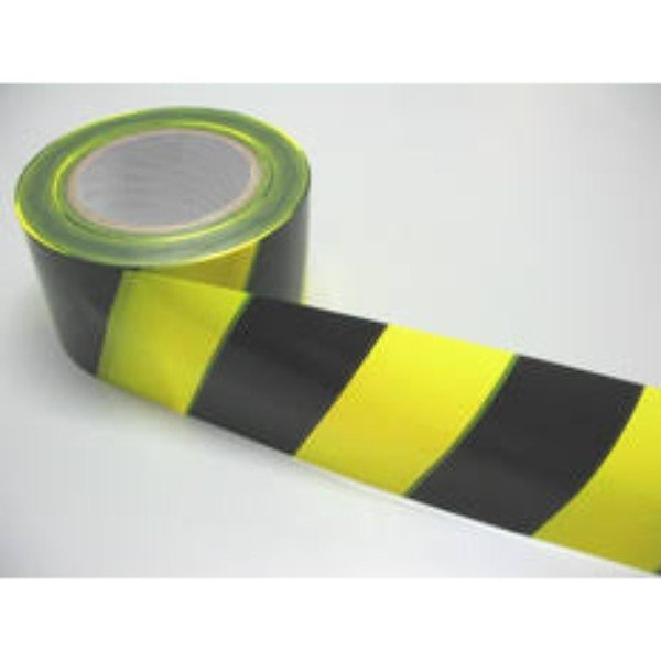 TAPE BARRICADE 72MM X 100M RED/WHITE